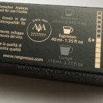 Nespresso Kapsel Verpackung Stärke
